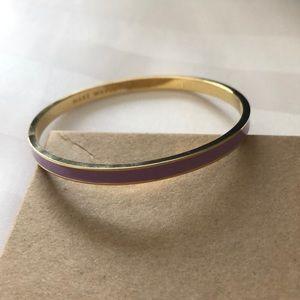 Kate Spade lilac and gold bracelet